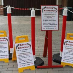 die neuen Schilder für den Böllerplatz